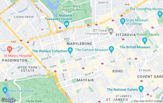 Map for Chestertons Estate Agents , Marylebone Lettings