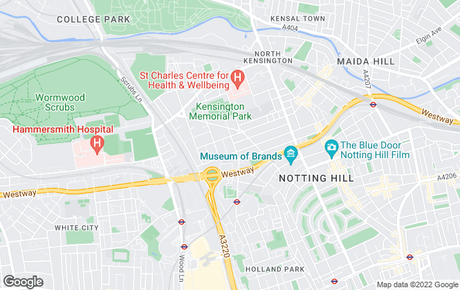 Map for Mountgrange Heritage, North Kensington