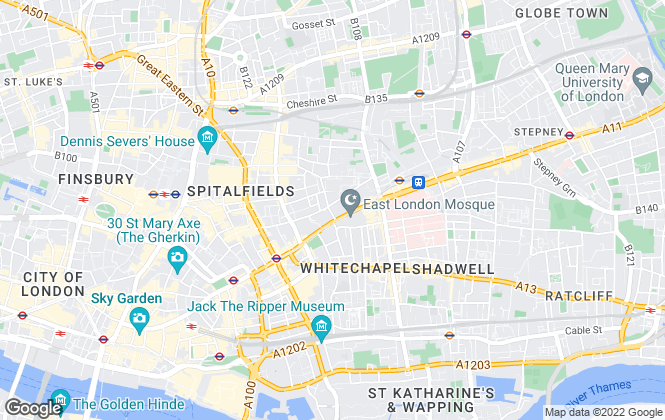 Map for Ideal Locations, Whitechapel