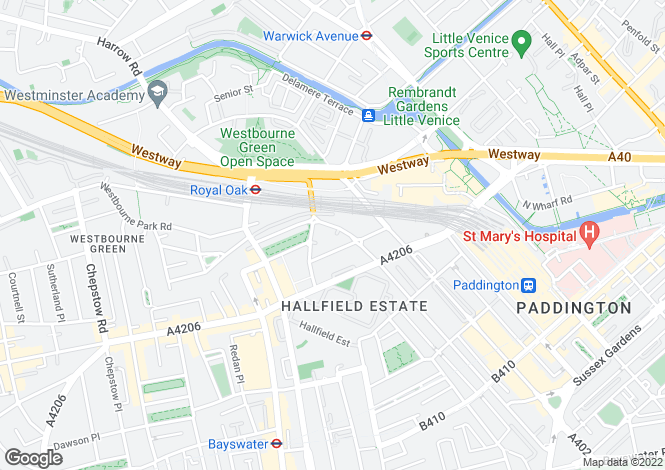 Map for Gloucester Terrace, Bayswater, W2