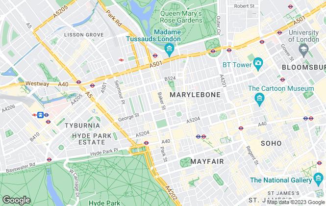 Map for Hunters, Baker Street