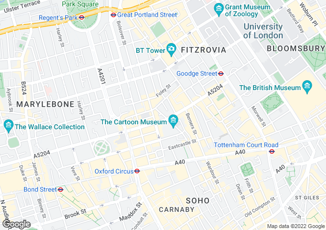 Map for Furnival Mansions, Wells Street, Fitzrovia, London, W1T