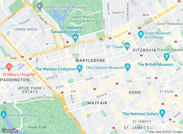 Map for Fusion Property, London