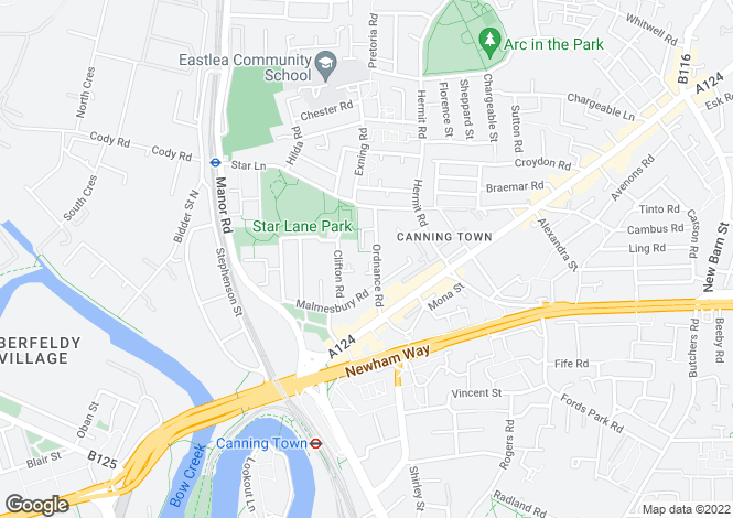 Map for Canning town