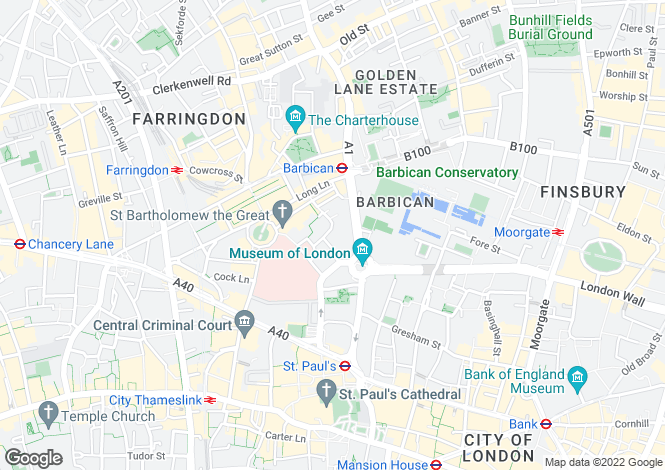 Map for Bartholomew Close, London, EC1A