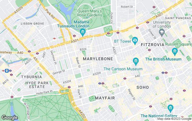 Map for ART Surveyors, London