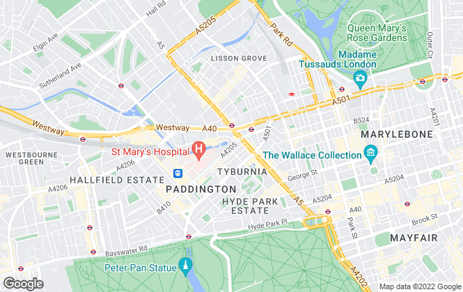 Map for Hamptons International Sales, Hyde Park & Bayswater
