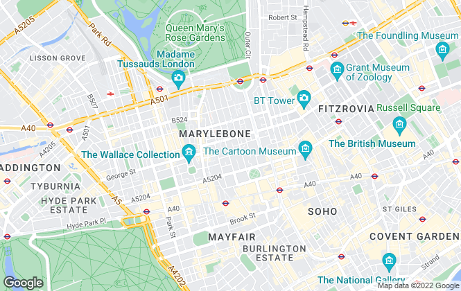 Map for Yellow Lettings, London