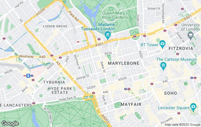 Map for Knight Frank, Marylebone