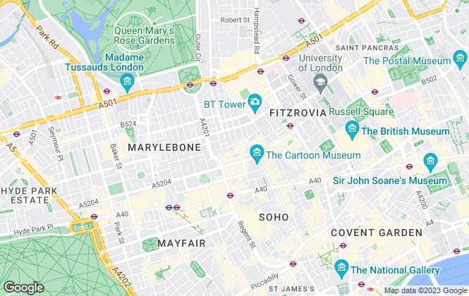 Map for Langham Properties Limited, Langham Street