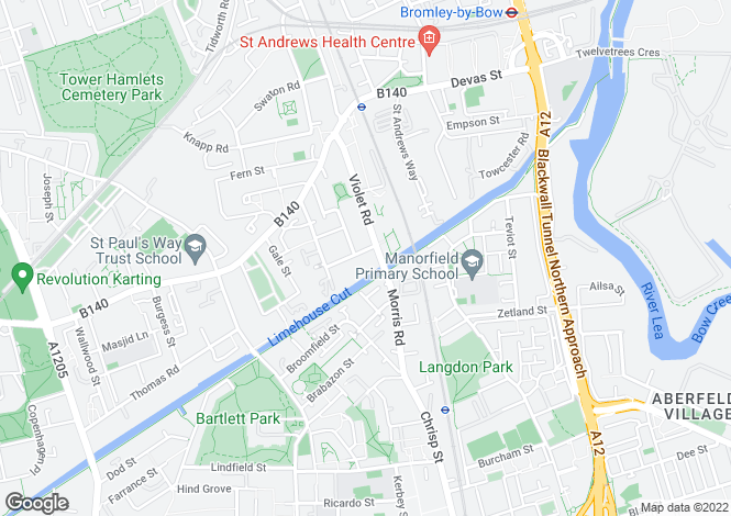 Map for Violet Road,