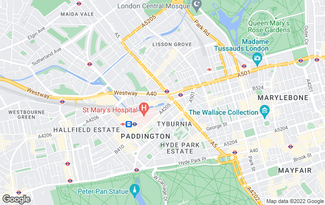 Map for Hamptons International Lettings, Paddington