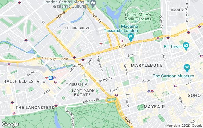 Map for York Estates, London