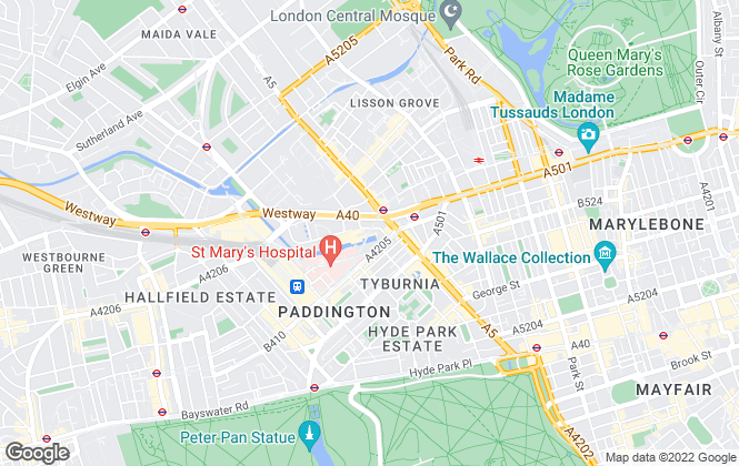 Map for Hamptons International Lettings, Paddington - Lettings
