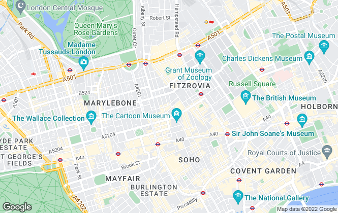 Map for LDG, London - Sales