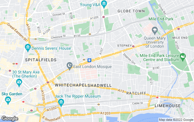 Map for Aqua Property, Whitechapel