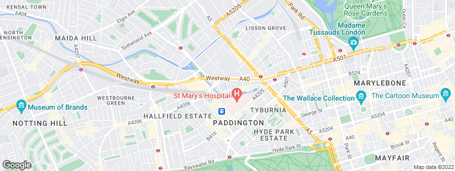 Map for Taylor Wimpey Central London
