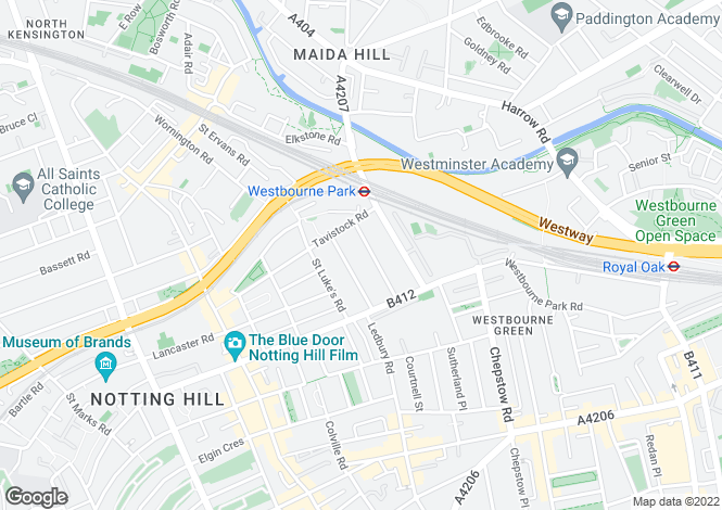 Map for Aldridge Road Villas, W11
