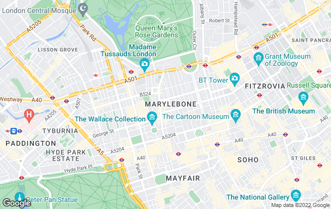 Map for Druce Marylebone Ltd,