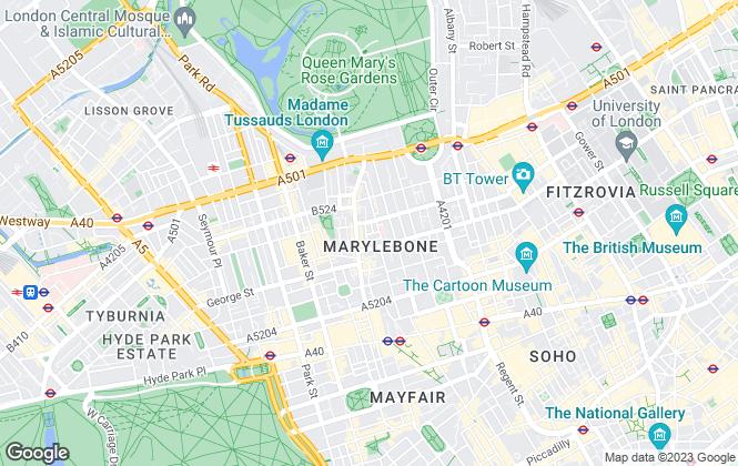 Map for Druce Marylebone Ltd,