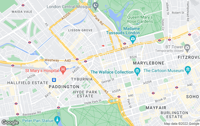 Map for Castlereagh Properties, London