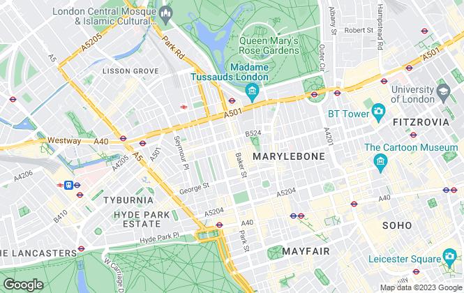 Map for Prime Metro Properties, London