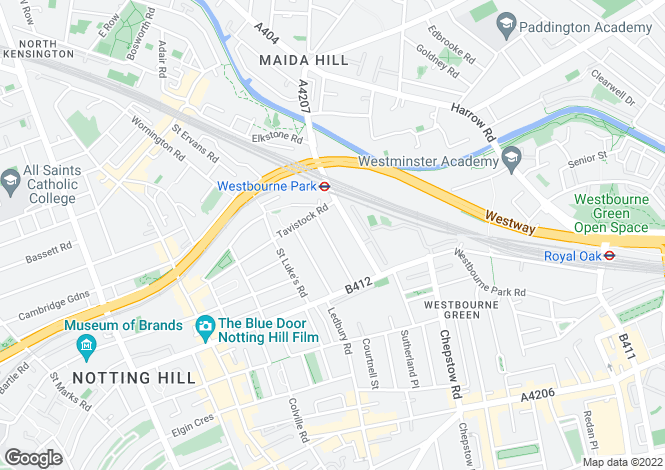 Map for Aldridge Road Villas, London W11