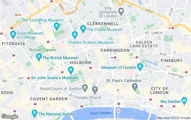 Map for Anderson Wilde & Harris, London