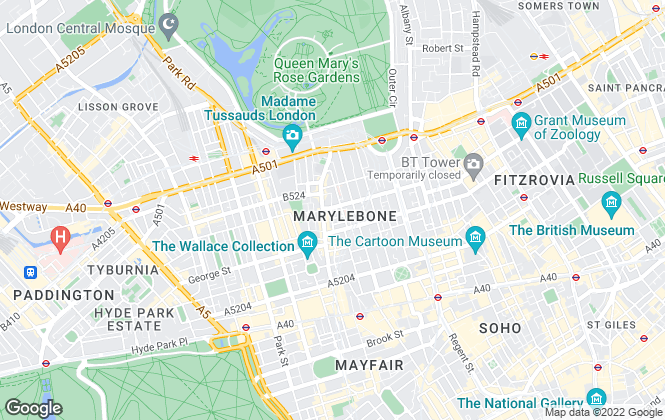 Map for Druce Marylebone Ltd, London