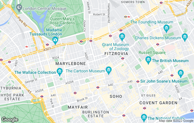 Map for mi homes, London