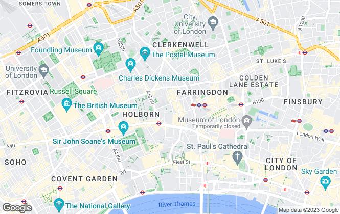 Map for Paul Estates Ltd, Farringdon