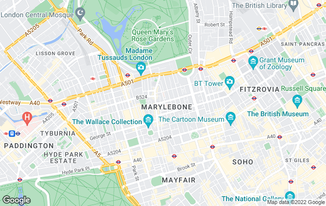 Map for Dexters, Marylebone