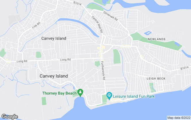 Map for Bennett Residential Services, Canvey Island