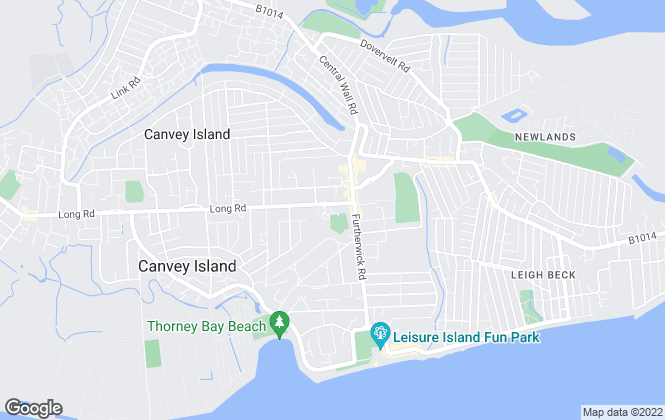 Map for Bennett Residential Services Limited, Canvey Island