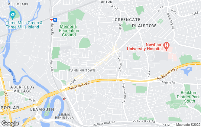 Map for Reeds Rains Lettings, Plaistow