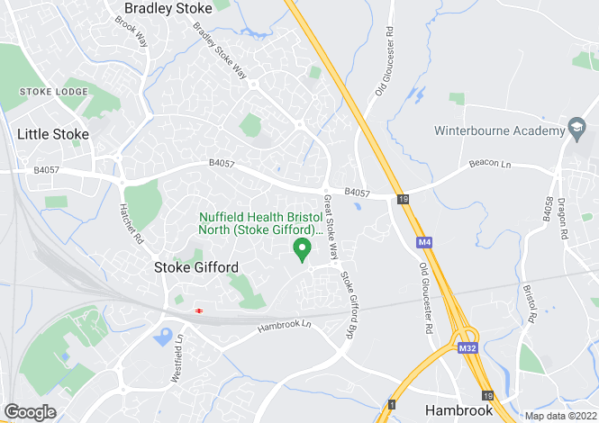 Map for Stoke Gifford, Bristol