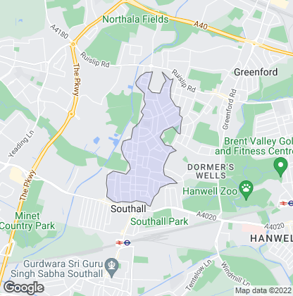 Map of property in Greenford Park