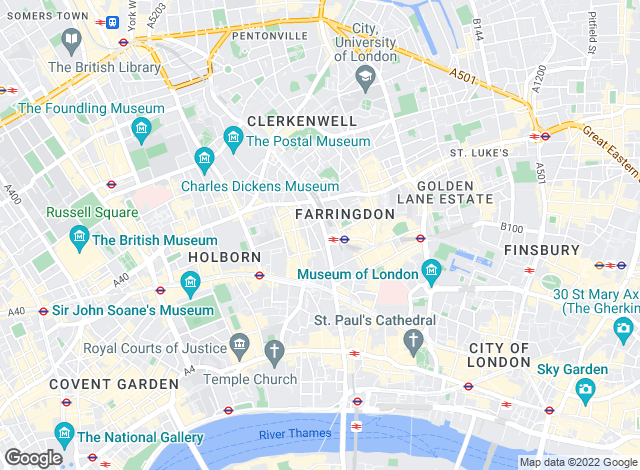 Map for Winkworth, Clerkenwell