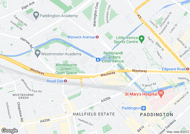 Map for Westbourne Terrace, London, W2