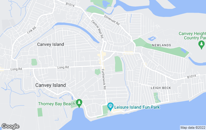 Map for Fisks Ltd, Canvey Island