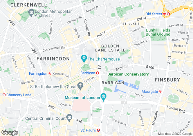 Map for Carthusian Street, London
