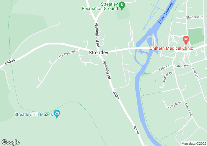 Map for South Streatley Lodge, Streatley on Thames, RG8