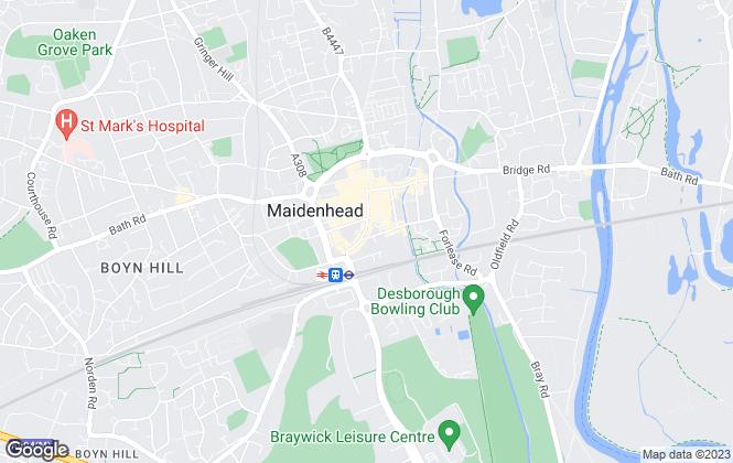 Map for Belvoir, Maidenhead