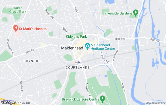 Map for Martin & Co, Maidenhead - Lettings