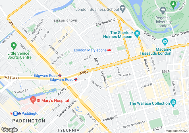 Map for Manor House, Marylebone Road, London, NW1