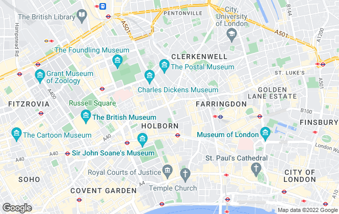 Map for Bloomsbury Property Services, London