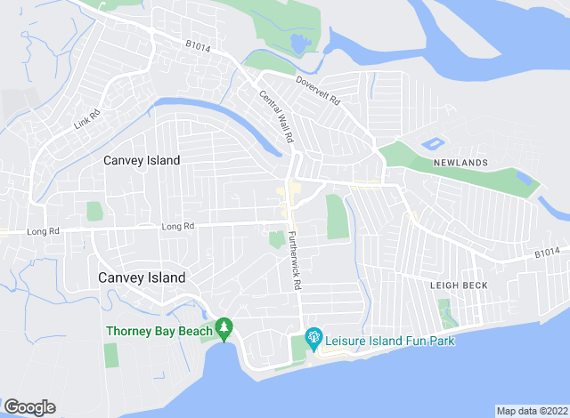 Map for Anthony Quirk, Canvey Island