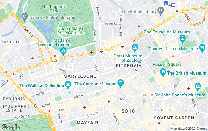 Map for Industrials, London