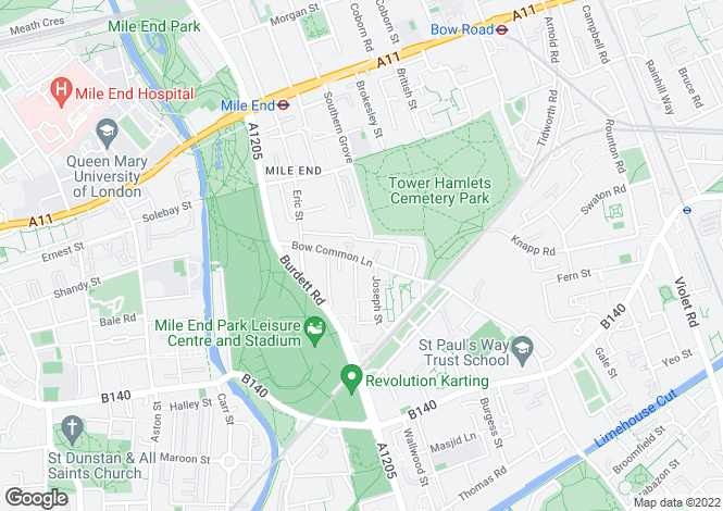 Map for Michael Close, Bow, London, E3