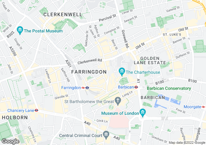Map for 29 St Johns Lane, Clerkenwell, London, EC1M